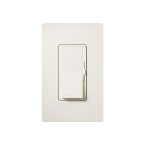 LED / CFL Dimmer - Paddle Switch - Biscuit - 120V - 600W Max. - Satin Finsh - Wall Plate Sold Separately