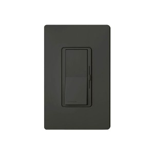 Incandescent / Halogen Dimmer - Paddle Switch - Black - 120V - 1000W Max. - Wall Plate Sold Separately