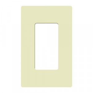 Claro Wall Plate - 1-Gang - Almond