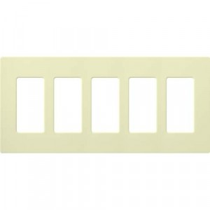 Claro Wall Plate - 5-Gang - Almond