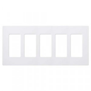 Claro Wall Plate - 5-Gang - White