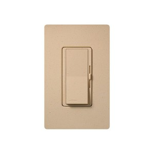Fluorescent Dimmer - Dimming with Hi-lume® and Eco-10TM (ECO-Series) - Paddle Switch - Desert Stone - 120V - 8A - Matte Finish - Wall Plate Sold Separately