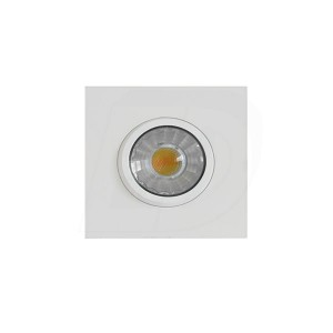 LED Slim Panel Gimbal Downlight (Square) - 8W - 3 inch - 3000K Warm White - Dimmable - 120V AC - White - Triac Warm Dim