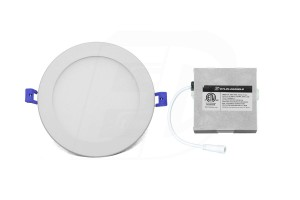 LED Slim Panel (Round) - 12W - 6 inch - 3000K Warm White - Dimmable - 120V AC - White
