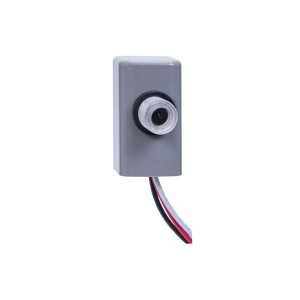 Intermatic - Electronic Photo Control - Fix Mount Button - 105-305VAC - 1800W Max. - 6Amps - Grey