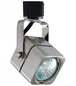 APOLLO Brushed Nickel Track Fixture with Black Connector - Max. 50W - 120VAC - Brushed Nickel