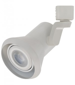 MYSTIC White Track Fixture - Max. CFL 13W or LED 8W - 120VAC - White