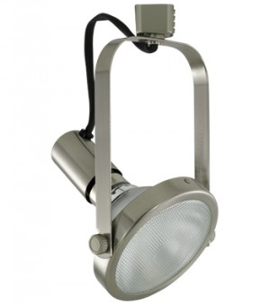 ATHENA Brushed Nickel Track Fixture - Max. 150W - 120VAC - Brushed Nickel