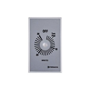 Intermatic - Timer Control Plate - Plate for 30-Min Without Hold - Brushed Metal