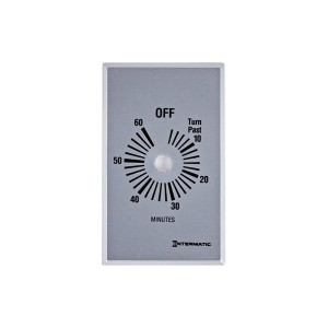 Intermatic - Timer Control Plate - Plate for 60-Min Without Hold - Brushed Metal