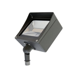 LED Compact Flood Light - 30W - 4000K Natural White - 120-277V AC - Knuckle Mount