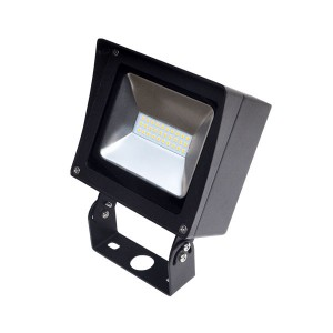 LED Compact Flood Light - 30W - 4000K Natural White - 120-277V AC - Trunnion Mount