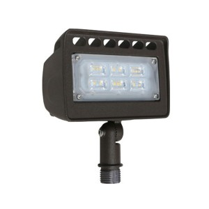 LED Flood Light - 12W - 5000K Cool White - 120-277V AC - Knuckle Mount