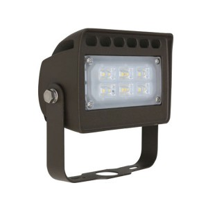 LED Flood Light - 12W - 5000K Cool White - 120-277V AC - York Mount