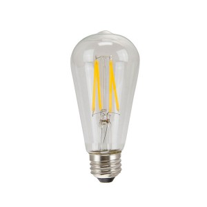 LED Edison Bulb Clear - 4W - Dimmable - 2200K Soft White