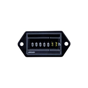 Grässlin AC Hour Meters - Flush Mount - Combo Quick Connect & Screw Terminals - 120V - 50Hz