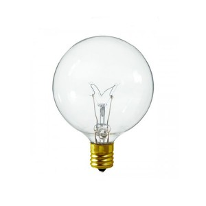 Decorative Bulb - G16 - 25W - E12 Base - Clear - 130V AC - 10 Packs