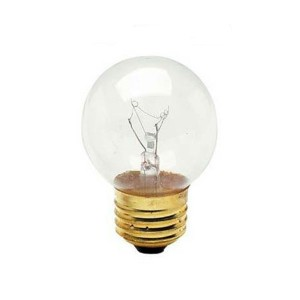 Decorative Bulb - G16 - 40W - E26 Base - Ceramic White - 130V AC - 25 Packs