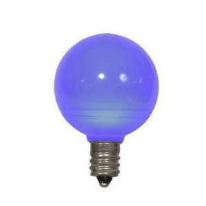 Decorative Bulb - G40 - 25W - E26 Base - Blue - 130V AC - 6 Packs