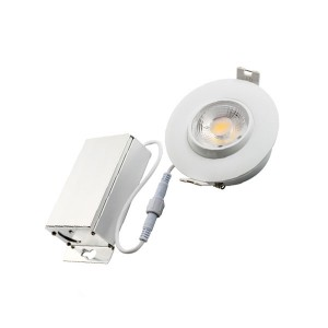 LED Eyeball Gimbal Slim Panel Recessed Light - White - 7W - 3 inch - 3000K Warm White - 120V AC