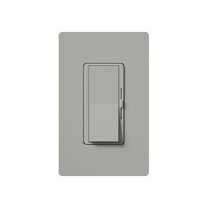 Magnetic Low Voltage Dimmer - Paddle Switch - Grey - 120V - 450W Max. - Gloss Finish - Wall Plate Sold Separately