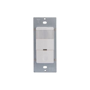In-Wall Occupancy/Vacancy Sensor - Commercial Grade - PIR - Single Relay - 180 Degree - White