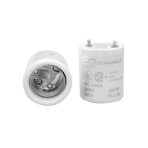 "4KV Pulse Rated Lampholder - 6/32"" Female Bushings - Medium Base"