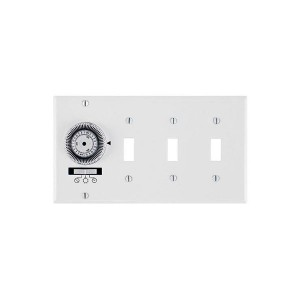 Electromechanical Timer - Heavy-Duty Mechanical In-Wall Timer - 4-Gang Toggle - 20A -120V - White