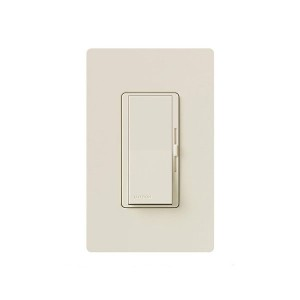 Incandescent / Halogen/LED/CFL Dimmer - Paddle Switch - Light Almond - 120V - 600W Max. - Gloss Finish - Wall Plate Sold Separately