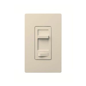Lumea C•L Dimmer - Rocker Switch - With Captive Linear-Slide Dimmer - Light Almond - 120V - Wall Plate Sold Separately
