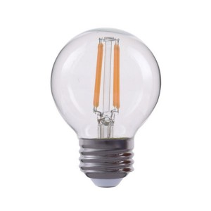 LED Globe G16 Filament - 4.5W - 120V AC - E26 Base - 2700K Soft White
