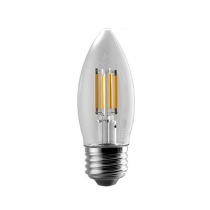LED B11 Filament Candle - 5W - 120V AC - E26 Base - 2700K Soft White