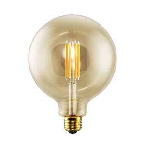 LED G40 Filament Amber - 5W - 120V AC - E26 Base - 2200K Soft White