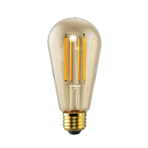 LED ST19 Filament Amber - 5W - 120V AC - E26 Base - 2200K Soft White