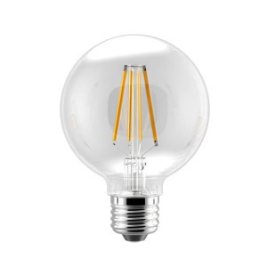 LED G25 Filament Amber - 5.5W - 120V AC - E26 Base - 2700K Soft White