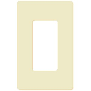 Decorator Wall Plate - 1-Gang - Ivory