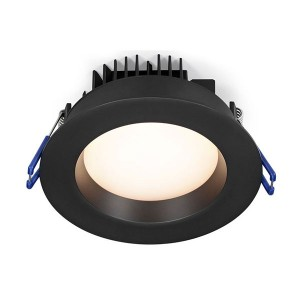 LED Round Recessed Slim Panel - Black - 14.5W - 4 inch - 2700K Soft White - 120V AC