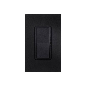 Fluorescent Dimmer - Dimming with Hi-lume® and Eco-10TM (ECO-Series) - Paddle Switch - Midnight - 120V - 8A - Matte Finish - Wall Plate Sold Separately
