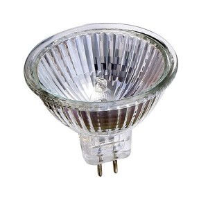 Halogen Bulb - 50W - MR16 Base - 12V - Wide Flood - 50 packs