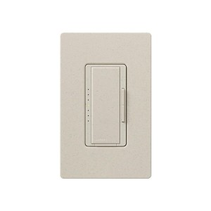 Maestro - Electronic Low-Voltage Dimmer - Digital Fade - Limestone - 120V - 600W - Wall Plate Sold Separately