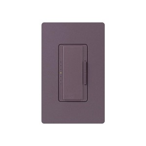 Maestro - Incandescent / Halogen Dimmer - Digital Fade - Plum - 120V - 1000W - Wall Plate Sold Separately