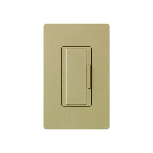 Maestro - Fluorescent Dimmer - 3 Wire - Digital Fade - Two Loads - Mocha Stone - 120V - 6A - Wall Plate Sold Separately
