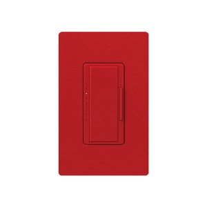 Maestro - Fluorescent Dimmer - 3 Wire - Digital Fade - Two Loads - Hot - 120V - 6A - Wall Plate Sold Separately