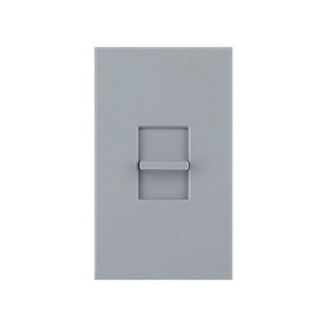 Nova T - 3-Wire Flourescent - Slide-to-Off Dimmer - Grey - 120V - 16A - Wall Plate Included
