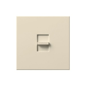 Nova T - Incandescent / Halogen - Slide to Off Dimmer - Light Almond - 120V - 1920W - Wall plate Included