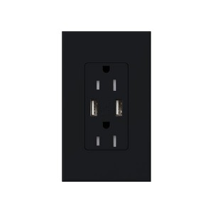 Nova T - USB Receptacle - 125V - 15A - Black