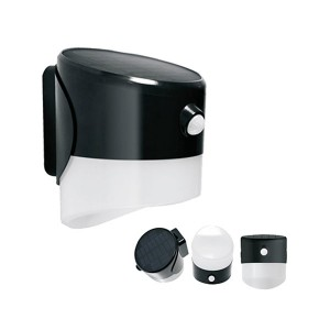 Solar Downwash Wall Pack Light - 2W - 3000K Warm White - 5-6 Hrs/Day Charging Time