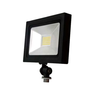 LED Flood Light - 10W - 3000K Warm White - 120V AC - Knuckle Arm