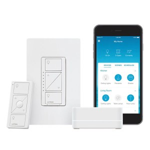 Caséta Wireless in-wall C•L Dimmer With Pico wireless remote and wallplate and Smart Bridge PRO - 150 W (LED/CFL) / 600 W (Inc) - 120V