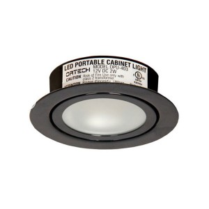 LED Puck Lights - 2W - 3000K Warm White - Black Trim